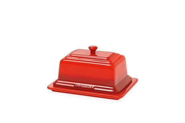 Chasseur La Cuisson Butter Dish Red