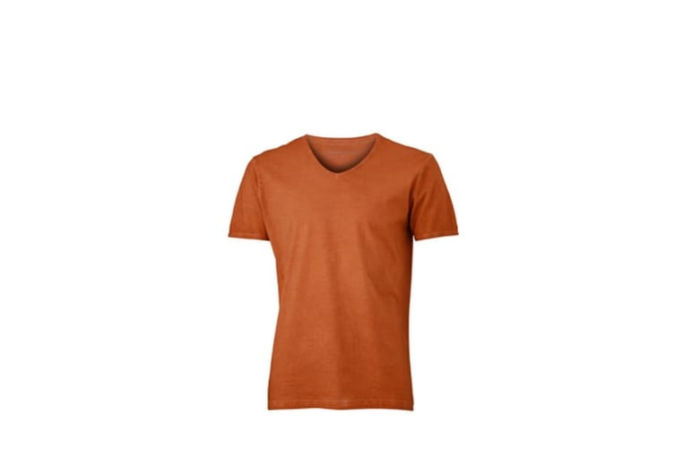 James and Nicholson Mens Gipsy T-Shirt (Terra Orange) (S)
