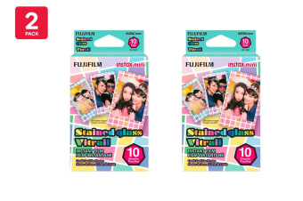 Fujifilm Instax Mini Stained Glass Film - 10 Sheets (2 Pack)
