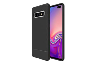 For Samsung Galaxy S10+ Plus Armour Case Snap Black Armor Shock Proof Slim Cover