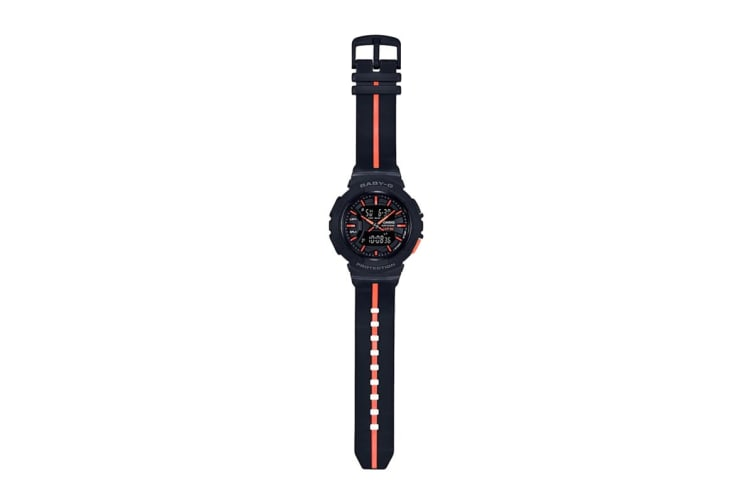 Casio Baby-G Analog Digital Watch with Lap Memory & Resin Band - Black/Red (BGA240L-1A)