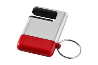 Bullet Gogo Screen Cleaner And Smartphone Holder (Silver/Red) (6 x 4 x 1 cm)