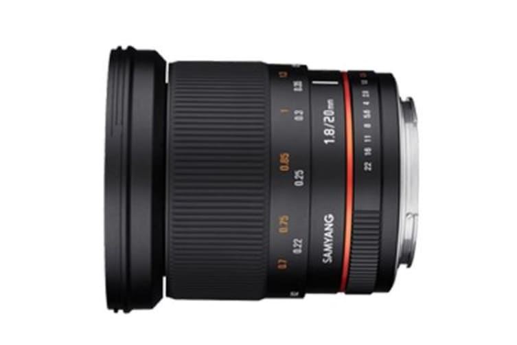 New Samyang 20mm f/1.8 ED AS UMC (Canon) (FREE DELIVERY + 1 YEAR AU WARRANTY)