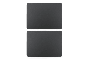 2pc Zic Zac Togo 33x45cm Rectangular Double Sided PVC Placemat Tablemats Grey
