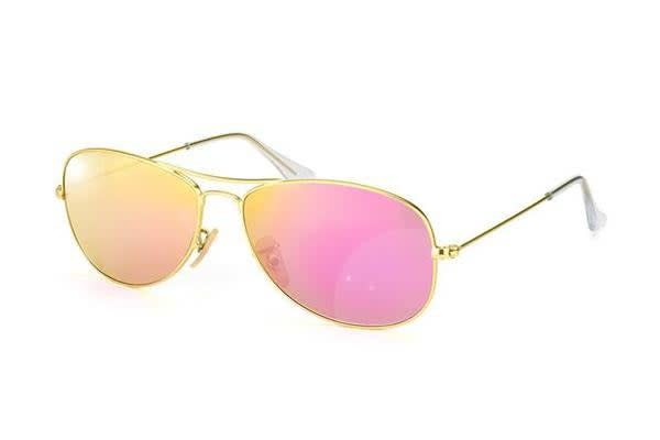 Ray Ban RB3362 - Matte Gold Pink (Cyclamen Mirror lens) / 59--14--135 Unisex Sunglasses