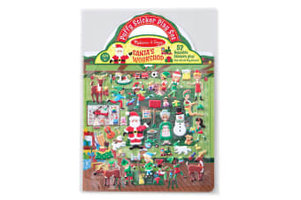 Melissa and Doug Reusable Puffy Sticker Play Set Santas Workshop