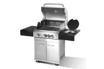 Grizze Stainless Steel 4 Burner BBQ Grill