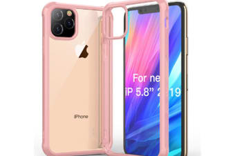 Select Mall Drop Protection Cover Acrylic Transparent Mobile Phone Case Compatible with Series IPhone 11 Case-Pink Iphone11 PRO 5.8 inch