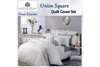 Union Square Snow Quilt Cover Set by Private Collection