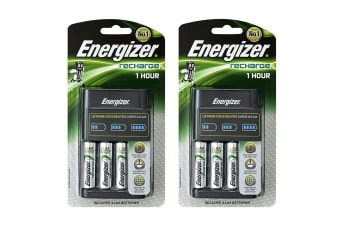 8pc Energizer 2300 mAh Universal AA Rechargeable Batteries w/Fast/Quick Charger