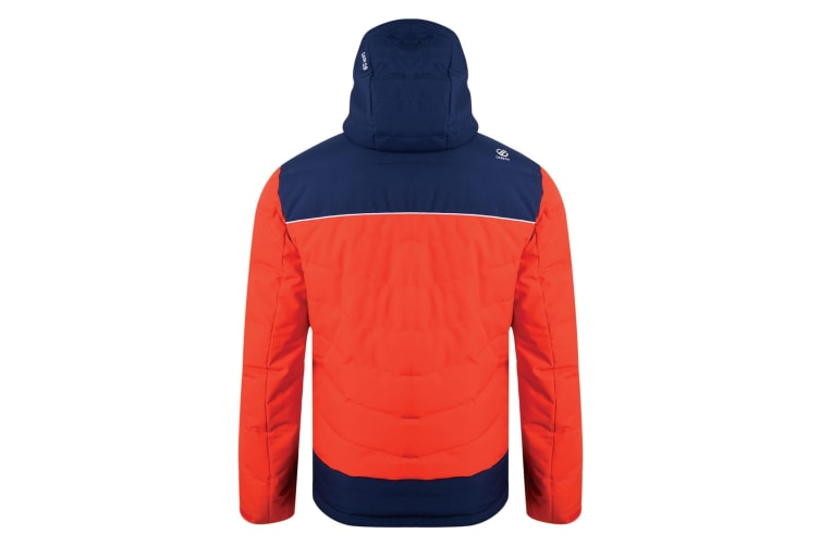 Dare2b Mens Maxim Quilted Ski Jacket (Fiery Red/Admiral Blue) (XL)