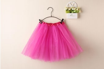 New Adults Tulle Tutu Skirt Dressup Party Costume Ballet Womens Girls Dance Wear - Hot Pink - Hot Pink