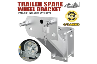 ATEM POWER Spare Wheel Bracket Carrier Holder Tyre Galvanised Trailer Part Caravan Boat Key