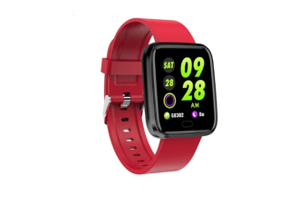 WJS 1.3inch Color Screen Blood Pressure Heart Rate Monitor Sport bluetooth Smart Wristband Watch-RED