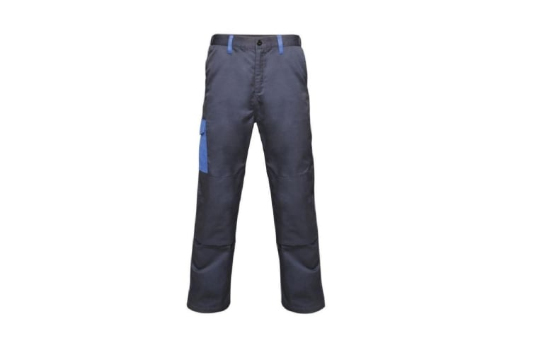 Regatta Mens Contrast Cargo Trousers (Navy/New Royal Blue) (30R)