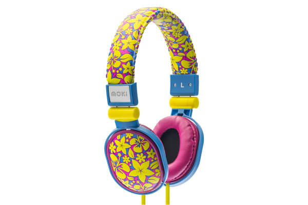 Moki Poppers Over Ear Headphones - Aloha (ACCHPP17F)