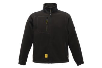 Regatta Mens Hardwear Sitebase Anti-Pill Fleece Jacket (Black)