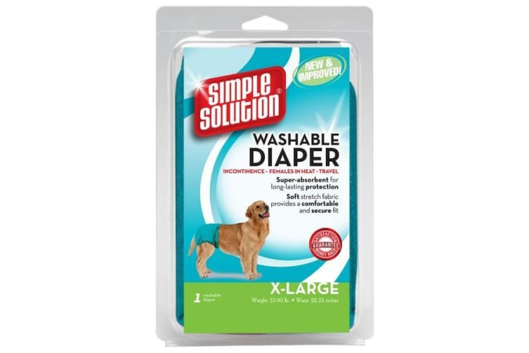 Simple Solution Washable Dog Nappy (Teal) (M)