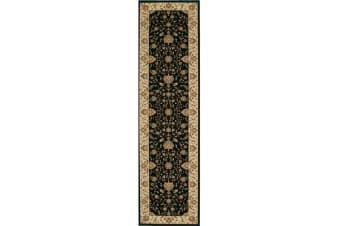 Stunning Formal Classic Design Runner Rug Black