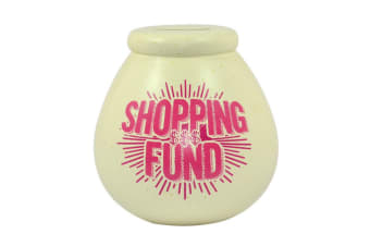 Pots Of Dreams Shopping Fund Money Pot (White/Pink) (One Size)