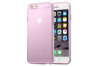 For iPhone 6S PLUS 6 PLUS Case Ultra-Thin Transparent Protective Cover Pink