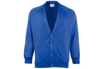 Maddins Childrens Unisex Coloursure Cardigan / Schoolwear (Ocean Royal) (24)