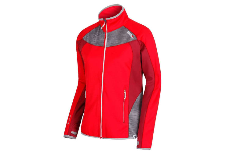Regatta Womens/Ladies Yare Softshell Jacket (Red Alert/Seal Grey) (20 UK)