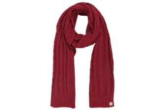 Regatta Womens/Ladies Multimix II Cable Knit Walking Scarf (Rumba Red) (One Size)