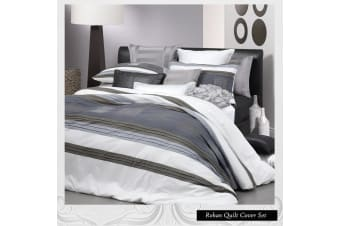 Rohan White Quilt Cover Set King by Logan & Mason