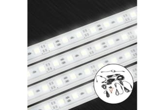 4X Cool White 12V 5050 Led Strip Lights Bars