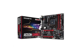 Gigabyte GA-AB350M-GAMING 3 mATX For AMD Ryzen Socket AM4. AMD B350 Chipset
