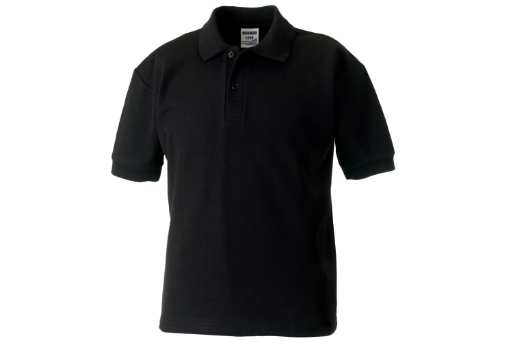 Jerzees Schoolgear Childrens 65/35 Pique Polo Shirt (Black) (1-2)
