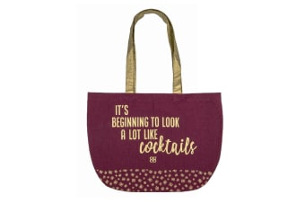Baileys Cotton Shopping Tote 38 X 45cm - Burgundy