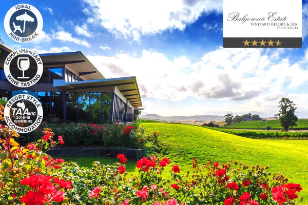 YARRA VALLEY: 1 Night at Balgownie Estate Vineyard Resort & Spa for Two (One Bedroom Spa Suite)