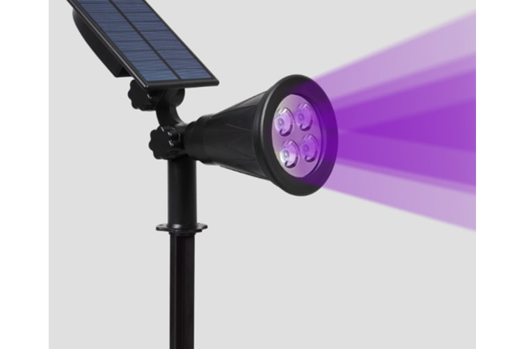 WJS Solar Garden Lawn Waterproof Outdoor Street Light Ground Spot Light Garden Lighting Landscape Light-Purple