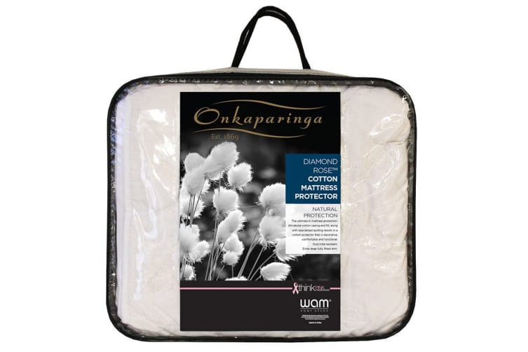 Onkaparinga Diamond Rose Cotton Mattress Protector (Single)