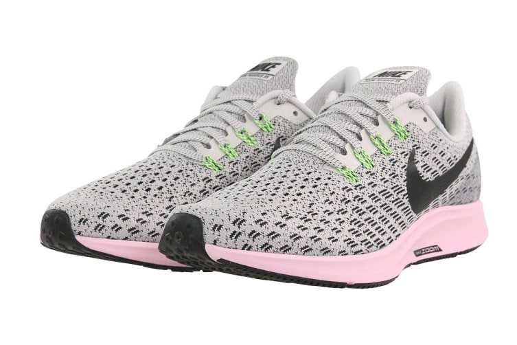 new styles 7cce9 b3327 Nike Air Zoom Pegasus 35 (Vast Grey/Pink Foam/Lime Blast/Black, Size 6.5 US)