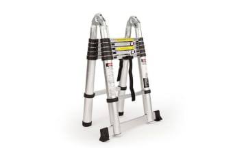 3.8m Multipurpose Telescopic Folding Ladder Aluminium Alloy Extension Steps AU