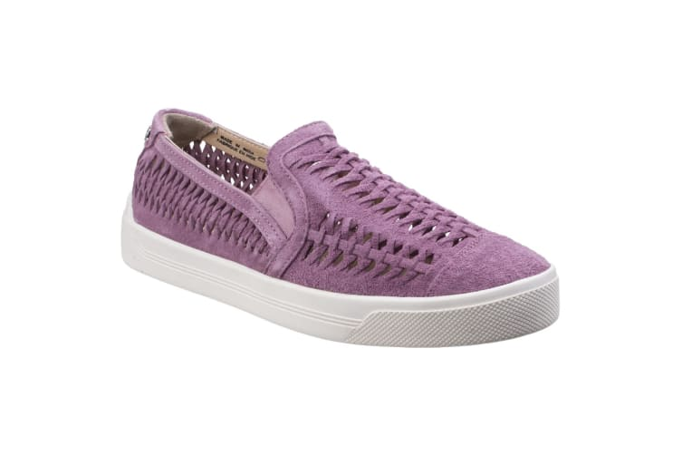 Hush Puppies Womens/Ladies Gabbie Woven Suede Slip On Shoes (Orchid Suede) (5 UK)