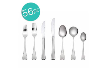 56pc Maxwell & William Cosmopolitan Cutlery Set Stainless Steel Knife Fork Spoon