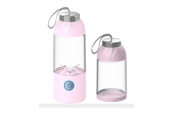 Select Mall Multi-function 550mL USB Electric Fruit Juicer Smoothie Maker Blender Juice Bottle Cup Machine-PINK
