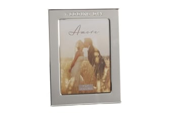 Widdop Amore Silver Plated Photo Frame Wedding Day (Silver) (7 x 5 Inch)