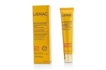 Lierac Sunissime Global Anti-Aging Energizing Protective Fluid SPF15 For Face & Decollete 40ml