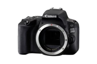 New Canon EOS 200D 24.2MP Body Digital Camera Black (FREE DELIVERY + 1 YEAR AU WARRANTY)