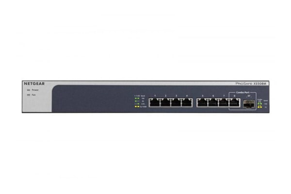 Netgear 8-Port 10-Gigabit Multi-Gigabit Ethernet Unmanaged Switch (XS508M)