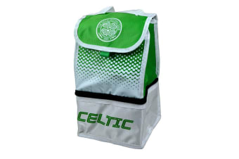 Celtic FC Official Football Fade Crest Lunch Bag (White/Green)