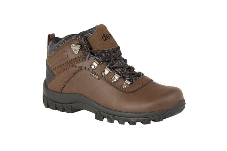 Dek Mens Derwent PU Suede Leather Padded Laced Ankle Walking Boot (Brown) (5 UK)