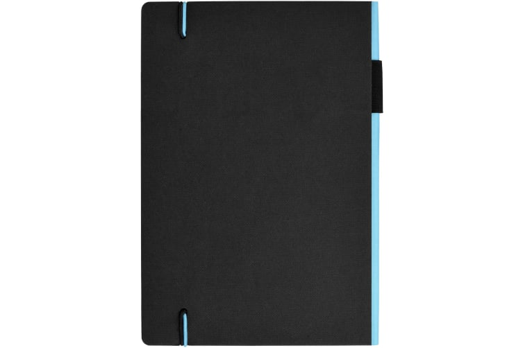 JournalBooks Cuppia Notebook (Solid Black/Light Blue) (20.4 x 14 x 1.5 cm)