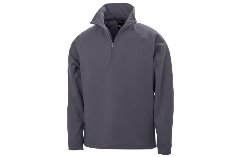 Result Mens Core Micron Anti-Pill Fleece Top (Charcoal) (XL)