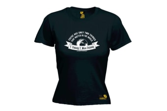 SWPS Gym Bodybuilding Tee - There Are Only Two Things Training - (X-Large Black Womens T Shirt)